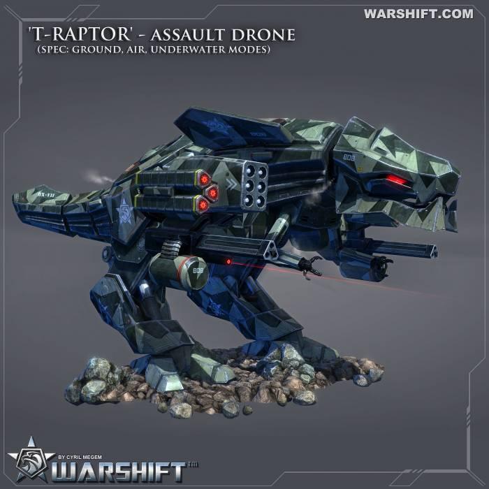 Warshift T-Radtor tyrannosaur T-Rex